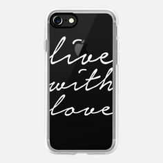 Live With Love - Classic iPhone 7 Grip Case | @casetify