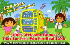 Best Offers For You Please Join Today At http://www.allnewbingosites.co.uk/ and http://www.allbingosites.co.uk/ 300% deposit bonus and £20 Free, No deposit required and win real cash money please visit and get more more and more latest offers,