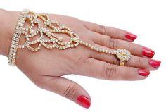 Goldpolish white diamond bracelet-1[Regular Price:                                    $30.00                                                                    Now only:                                    $15.00]