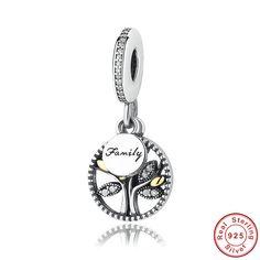 Beads Albero della Vita logo Famiglia gioiello 100% argento sterling 925 si adatta a pandora charm e braccialetto europeo di OceanBijoux su Etsy