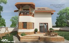 Modern House, built on Light Steel Structure House Built, Steel Structure, House Prices, Bungalow, House Plans, Mansions, Lighting, House Styles, Building