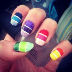 Paint sample nails