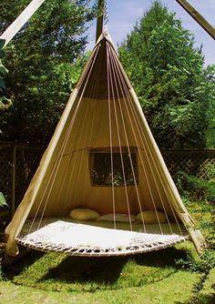 garden bed old trampoline