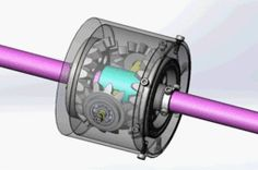 Coaxial Gearbox -split axis.