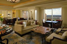 The best views of the lake and golf course can be seen from the Club Lounge at The Ritz-Carlton Orlando, Grande Lakes.