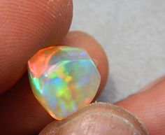 Natural Welo Opal Freeform with Multi Color by JossieOpals on Etsy