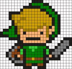 Legend Of Zelda Link Perler Bead Pattern