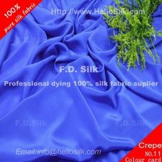 http://www.silkfabricwholesale.com/16mm-silk-crepe-de-chine-fabric-royal-blue.html       F.D. silk most professional 16mm silk crepe de chine fabric-royal blue supplier.