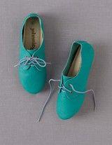 Chaussures de Jazz Cuir (Bleu Piscine/Bleu Ciel)