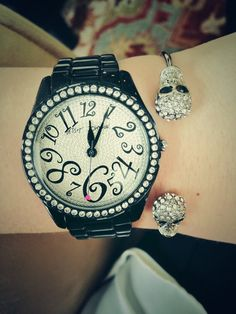 Betsy Johnson watch and Charming Charlie bracelet