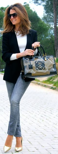 Loewe Black Transparent Tote by Oh my Looks