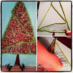 Christie's Christmas Crafts: Bead tree art