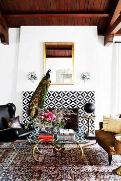 Joe Trohman's eclectic living space