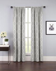 Fulton Interlock Ogee Print Curtain Panel / Curtainworks.com