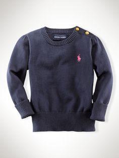Pima Crewneck - Infant Girls Sweaters - RalphLauren.com