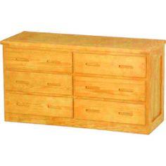 Double Dresser made from Southern Yellow Pine  #MadeInTheUSA #Bedroom #Storage #JessCrateFurniture  #SustainableFurniture #EcoFriendlyFurniture