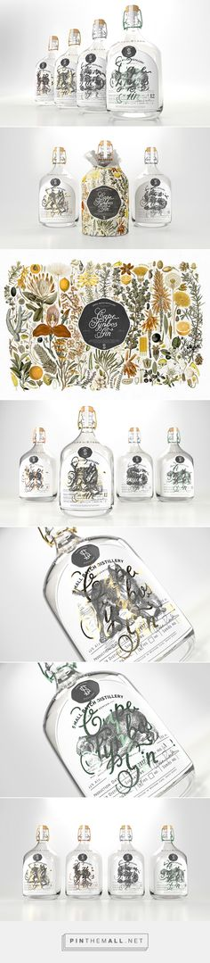 Cape Fynbos Gin by Johnny Kotze. Source: Daily Package Design Inspiration. Pin curated by #SFields99 #packaging #design #inspiration #ideas #innovation #branding #product #alcoholic #beverages