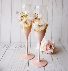 Wedding Champagne Flutes Wedding Champagne Glasses Toasting