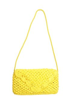 $48, Vintage 80s Straw Purse Yellow Raffia Handbag Shoulder Bag Large Clutch 1980s Envelope Purse Made in Italy by ScarletFury on Etsy