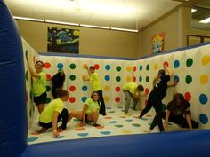 Game night- Create your very own Twister room like Big Springs High School Youth Group Games, Youth Activities, Activity Games, Family Games, Fun Games, Games For Kids, Therapy Activities, Youth Group Events, Couple Games