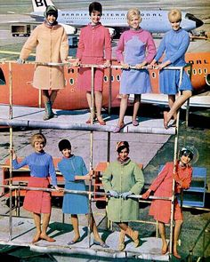 Vintage Air - stewardesses (notice the one with the bubble)