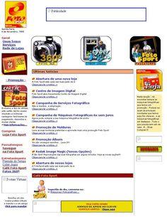Imagem do site Fotosport, em Novembro de 1999: http://blog.fotosport.pt/2012/05/a-fotosport-em-1999/