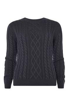 Primark - Marineblauer Pullover mit Zopfmuster