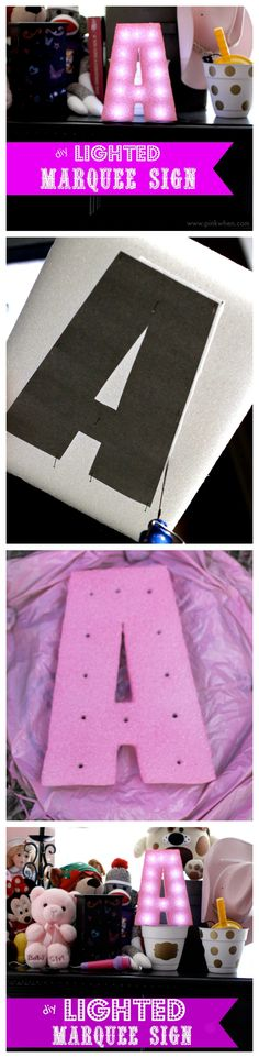 The cutest decoration for any kids room, and SO many possibilities! This is STYROFOAM!!! So fun!