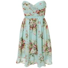 Ice Blossom Pastel floral dress ($50) ❤ liked on Polyvore featuring dresses, vestidos, short dresses, blue, short floral dresses, green floral dress, flower print dress, pastel blue dress and floral mini dress