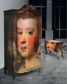 THE TRIP PIXEL  Los muebles pixelados diseñados por Studio Badini Createam y Seletti.