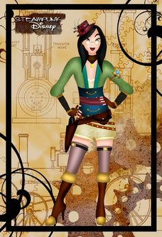 Steampunk Mulan. Would be an awesome Halloween costume!