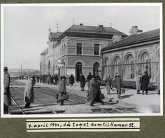Hamar station on the day of the German invasion World War Two, Nye, Norway, Louvre, Street View, Pictures, Photos, Train Stations, Places
