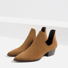 ZARA - TRF - OPEN ANKLE BOOTS WITH HEEL