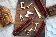 Tools set of 6 pcs laser cut plywood cutouts with engraving for DIY projects craft supplies by woodandroot. the best idea for art therapy :) ! (Craft Supplies & Tools  Scrapbooking Supplies  Embellishments & Die Cuts  wood  unfinished  Supplies  scrapbooking badge  pin  brooch  Patches  instrument  hammer  screwdriver  pliers  for men)