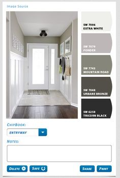 Add paint colors and fabrics to design board