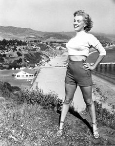 Marilyn Monroe, California Coast, 1940s