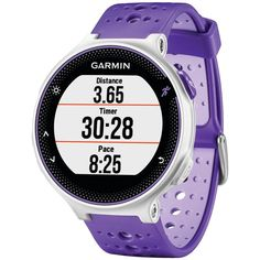 GARMIN 010-N3717-41 Refurbished Forerunner(R) 230 GPS Running Watch (Purple/White)