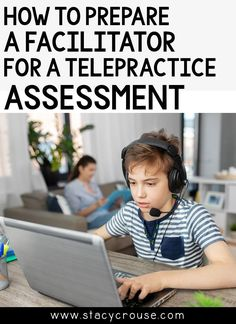 Want to make your telepractice speech and language assessments run more smoothly? Here's how to prepare the facilitator (parent or school staff member) ahead of time with all the information they need to assist on the student's side of the evaluation. Don't miss the link to download the free checklist to send to the facilitator ahead of time! School Staff, Back To School, Speech Therapy Organization, Occupational Therapy, Caregiver, Speech And Language, Assessment, Parenting, Student