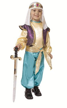 Child Dress Up Arabian Sultan Boy Costume