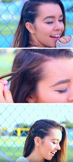 Double Row of Braids | Quick and Easy Back to School Hairstyles for Teens