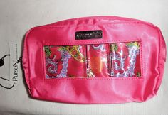Pursen Hot Pink Paisley Clasic Small Make Up Case Bag Cosmetic Purse Organizer A Amber Ring, Purse Organization, Makeup Case, Jansport Backpack, Hot Pink, Paisley, Purses, Rich Colors, Handbag Accessories