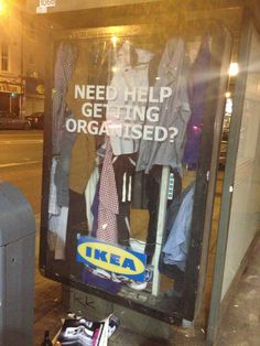 IKEA Ad: We know your closet's a mess. #Advertising #IKEA