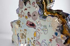 Colorful Cross-Sections of Rock Formations Made Into Sculptural Paintings - DesignTAXI.com
