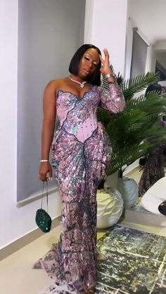 Nigerian Lace Styles, African Lace Styles, African Lace Dresses, Ankara Styles, African Fashion Ankara, African Print Fashion, Wedding Guest Outfit Inspiration, Sexy Dresses, Evening Dresses