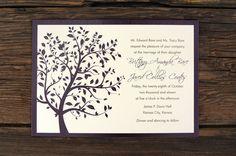 Summer Breeze Tree  Wedding Invitations by ruffhouseart on Etsy, $3.00