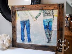 large photo transfer art for 15 with pallet frame