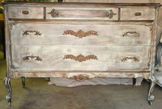 Dresser Chest of Drawers Old West Vintage Poppy by poppycottage
