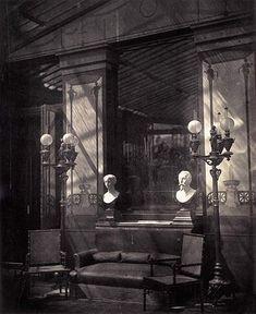 Pierre-Ambroise Richebourg. Vue dans la serre de la maison pompéienne du prince Napoléon, avenue Montaigne. 1866. Paris.