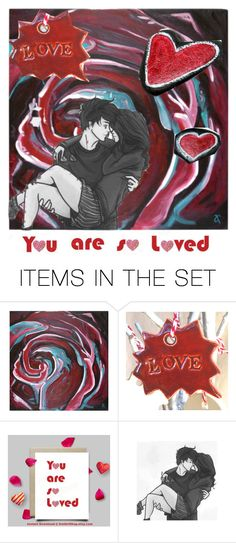 """You are so loved ❤"" by riagr ❤ liked on Polyvore featuring art and vintage"