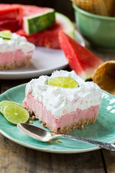 Salted Sherbet Watermelon Bars make the perfect summer dessert. Three delicious layers including a waffle cone crust and Cool Whip topping. Watermelon Sorbet, Watermelon Recipes, Watermelon Cakes, Watermelon Festival, Funnel Cakes, Biscotti, Dessert Crepes, Dessert Pizza, Pastries